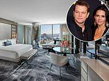 Matt Damon settles into a suite at Sydney's six-star Crown Tower