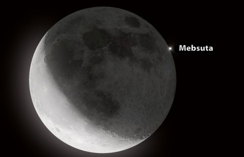 Watch as the Moon blots out bright stars