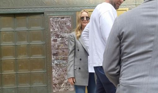 Jennifer Lawrence smiles outside Marriage Bureau amid Cooke Maroney wedding rumours