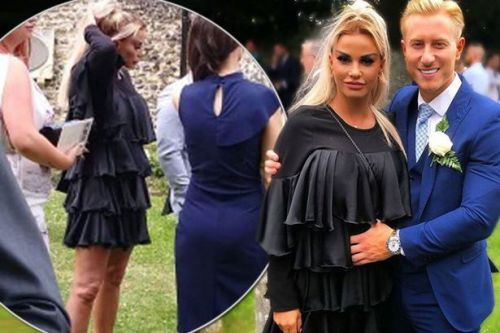 Katie Price fuels pregnancy rumours as she ditches booze and dashes out of wedding