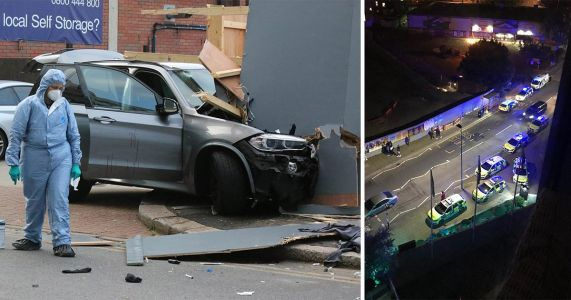 Three arrested for attempted murder after car deliberately drove into group of people
