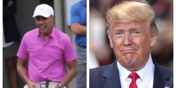 Obama played golf in Hawaii while Trump was getting impeached by the House