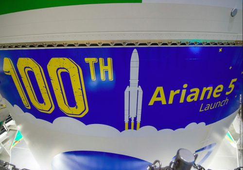 Photos: Ariane 5 rolls to launch pad with two commercial comsats