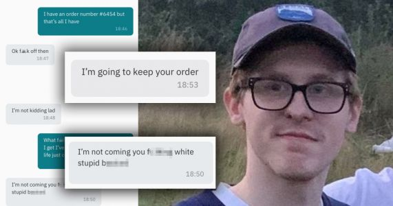 Deliveroo driver 'stole' disabled man's food then called him a 'stupid white b**tard'