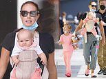 Tamara Ecclestone enjoys a family day out with her daughters as she goes for a shopping trip