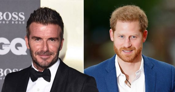 David Beckham hopes Prince Harry 'is ok' and he's proud to see him 'grow into being a great father'