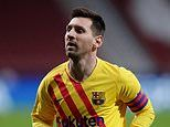 Lionel Messi LEFT OUT of Barcelona's 19-man Champions League squad for trip to Dynamo Kiev