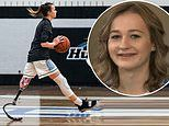 Girl, 16, who lost her leg to cancer as a toddler becomes high school basketball star