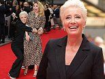Emma Thompson puts on a typically kooky display as she wrestlesHayley Atwell