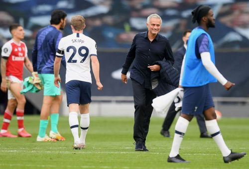 Jose Mourinho sends classy message to Mikel Arteta after Tottenham beat Arsenal in the north London derby