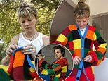 Copy of Harry Styles' multi-coloured cardigan goes on display at the V&A