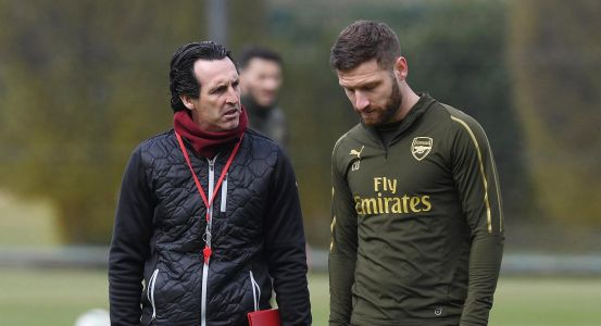 Shkodran Mustafi takes aim at former Arsenal manager Unai Emery