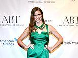 Model Robyn Lawley stuns in emerald satin frock as she attends American Ballet Theatre's Fall Gala