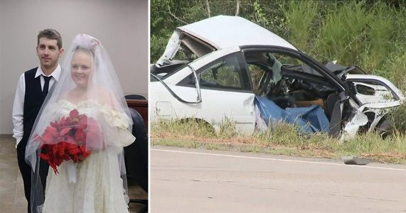 Childhood sweethearts killed in accident minutes after getting married
