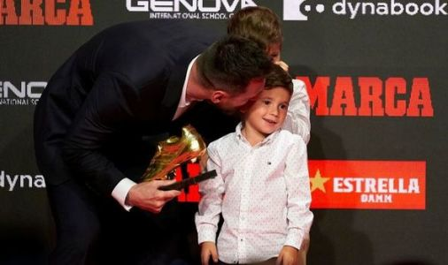 Fans hail Lionel Messi's son Mateo after youngster hands father Golden Shoe