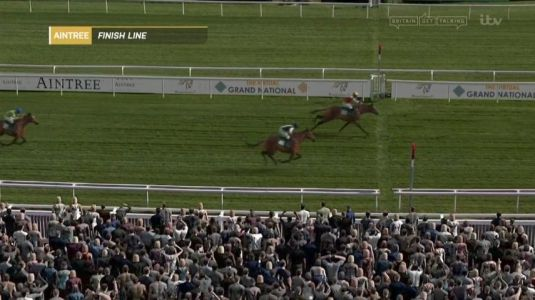 Virtual Grand National 2020: Potters Corner wins a thriller for Welsh trainer Christian Williams with Tiger Roll fourth