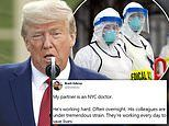 Trump accuses US health care workers 'in numerous places' of hoarding surgical masks