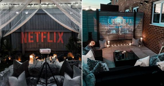 People are making outdoor cinemas in their gardens and the results are adorable