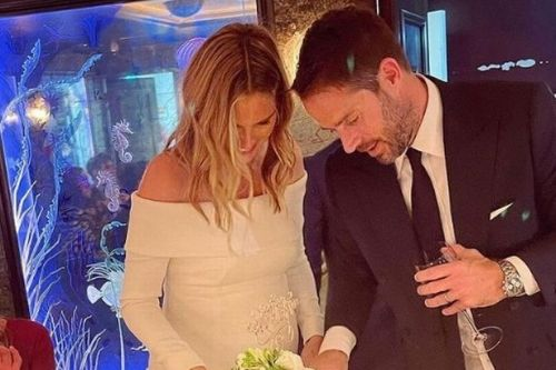Harry Redknapp shares unseen snaps of Jamie and Frida's wedding as newlyweds cut cake