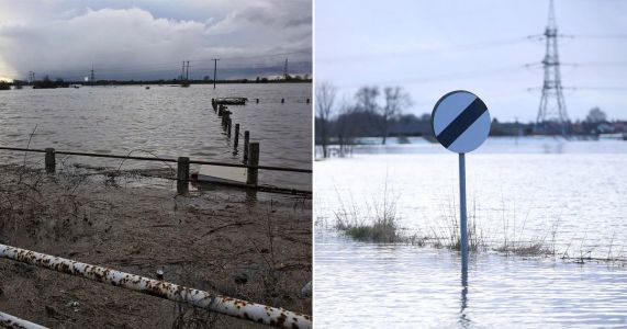 Residents evacuated and homes submerged in water after river bursts its banks