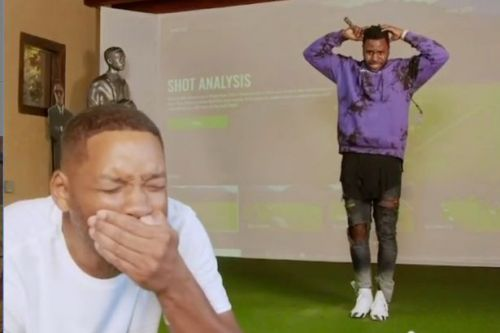 Will Smith gets his teeth knocked out by Jason Derulo as golf game goes wrong