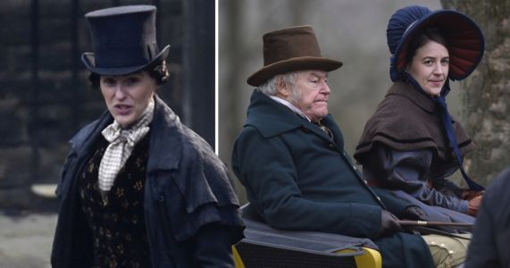 Suranne Jones steps out to film Gentleman Jack season 2 with co-stars Timothy West and Gemma Whelan
