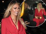TOWIE's Chloe Sims and Pete Wicks make a giggly exit from TRIC Christmas lunch