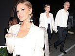 Ashlee Simpson wows in chic cream blazer at beauty event in Hollywood