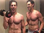 Sacha Baron Cohen shows off his ripped physique in shirtless video posted by his wife Isla Fisher