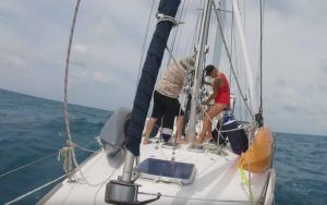 Followtheboat: How to sail goose wing with a poled-out headsail