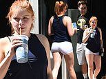 Ariel Winter dresses for the weather while stepping out with her beau Luke Benward in Los Angeles