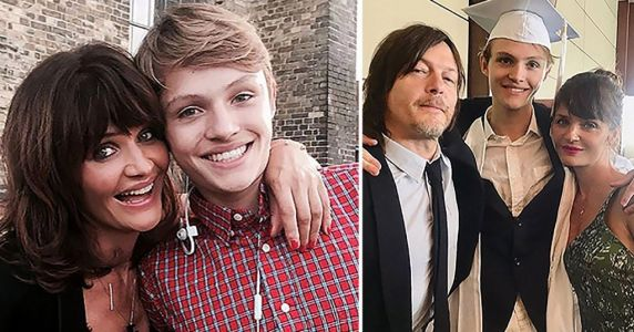 The Walking Dead's Norman Reedus and ex Helena Christensen get soppy on son's 20th birthday