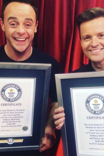 Ant McPartlin and Declan Donnelly beam in heartwarming new picture as they're surprised with ANOTHER accolade following NTA win