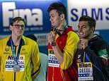 Justice for Mack Horton as Chinese swimming rival Sun Yang is found GUILTY of being a drug cheat