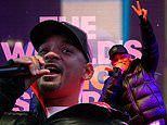 Will Smith wraps up against the NYC chill as he performs at World's Big Sleep Out event