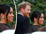 Meghan Markle arrives at close friend Misha Nonoo's wedding in a BLACK outfit