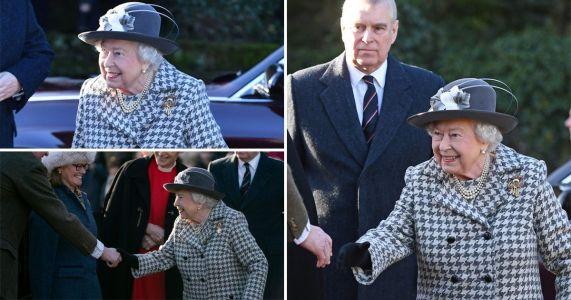 Queen with Andrew by her side for first time since car crash interview