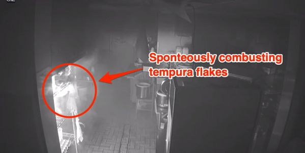 A string of sushi restaurant fires were caused by spontaneously combusting tempura flakes