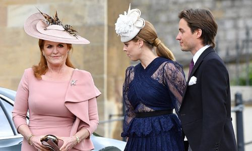 Sarah Ferguson supported by her future son-in-law as she announces new project