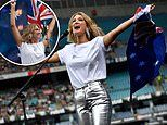 Delta Goodrem stuns as she performs with Australian flag at the Fire Fight Bushfire concert
