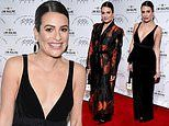 Lea Michele stuns in two different looks at New York Stage And Film Winter Gala
