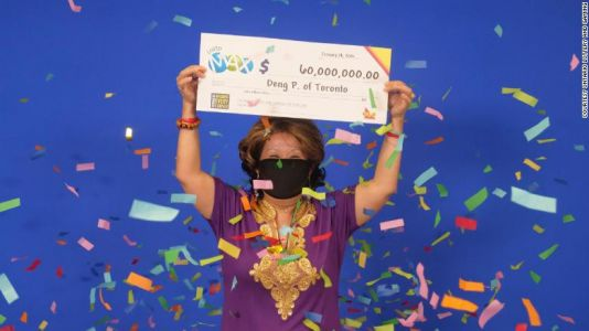 Woman wins $60 million lottery jackpot using numbers from her husband's dream