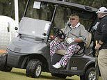 Tiger Woods slams overweight John Daly after he is granted permission to ride golf buggyat USPGA