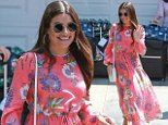 Lea Michele smiles wide while attending star-studded InStyle Day of Indulgence party in Los Angeles