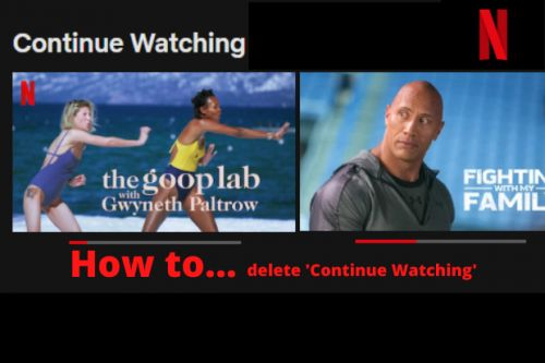 How to delete items from 'continue watching' on Netflix