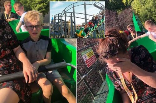 Family's nightmare trip to Legoland as rollercoaster gets stuck in 32C heat