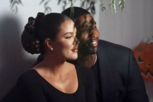 Khloe Kardashian and Tristan Thompson kiss in romantic PDA at Kim's 40th bash