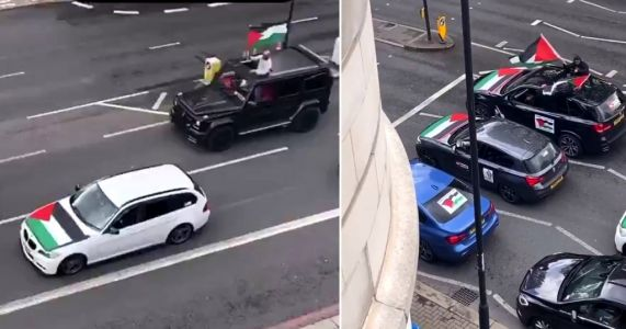 Convoy drives through London shouting 'f**k the Jews, rape their daughters'