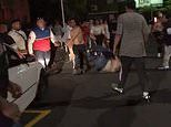 Savage footage emerges of wild street brawls outside rap group OneFour's Auckland concert