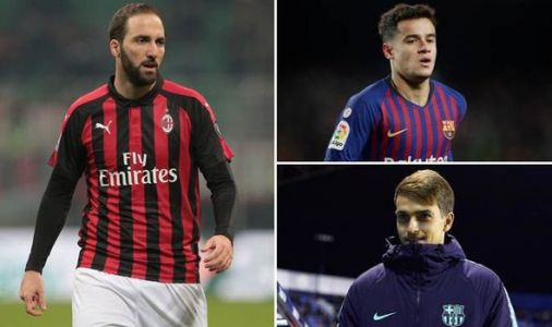Transfer news LIVE: Higuain to Chelsea TODAY, Coutinho to Man Utd, Liverpool, Arsenal